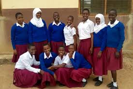 Young girls at Ghona sec school
